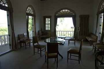 One of the sitting areas inside