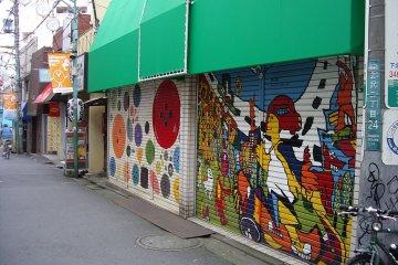 Shimokitazawa and Melbourne both have a penchant for cool graffiti