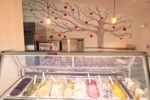 Several gelato varieties are available each day