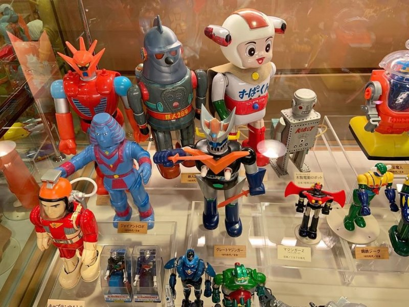 Some of the toys on display at the Warabekan