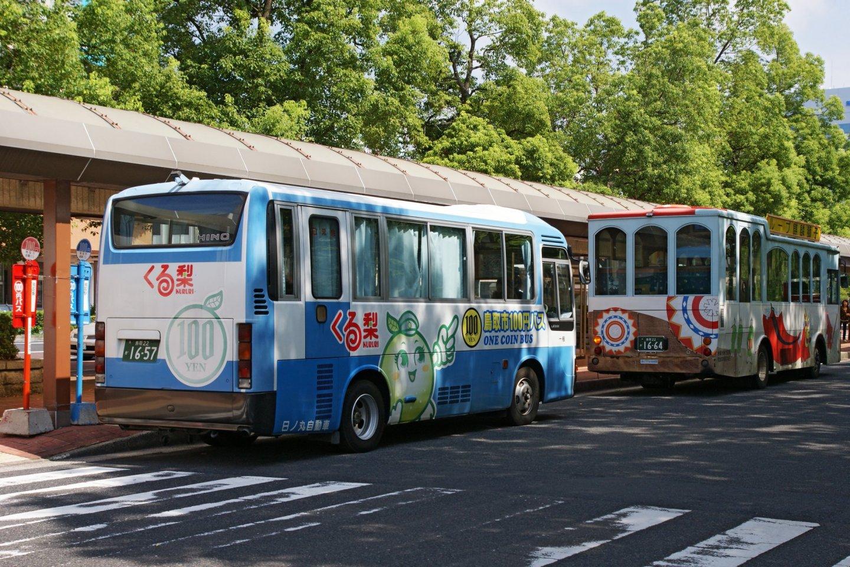The blue bus line
