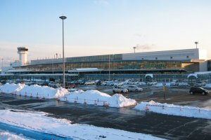 A winter view of Hakodate Airport