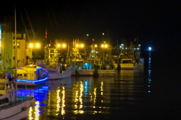 Fishing boats docked for the night