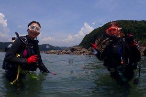 要去潜水了。