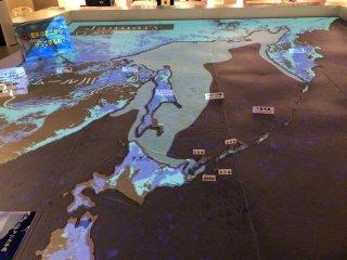 La carte géographique interactive 'avancée de la mer gelée à partir du mois de janvier.