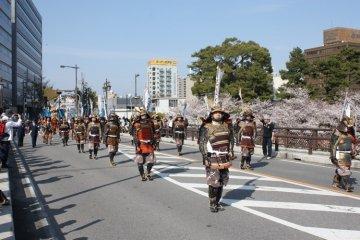Samurai! Ieyasu Gyoretsu parade.