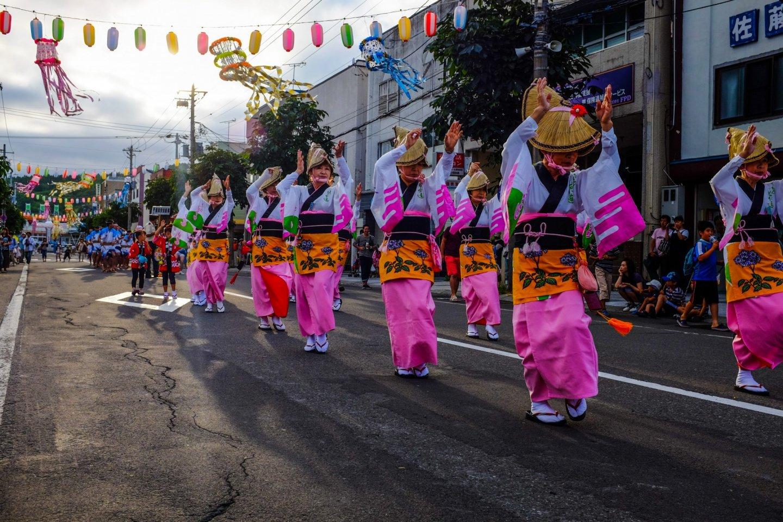 Kutchan\'s Jagamatsuri features traditional dance in beautiful dress