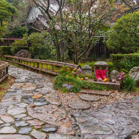 京都大原、宝楽園の散紅葉