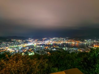 長崎港を一望に見渡した絶景