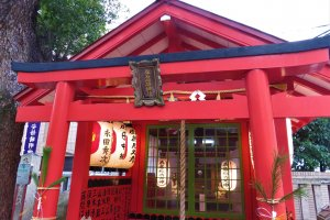 One of the many shrines you pass on the Hankai Tramway