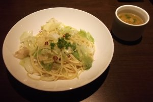 My aglio olio lunch, light but tasty