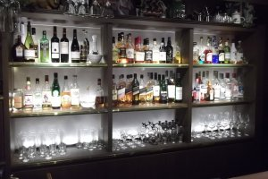 The well stocked bar