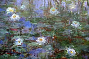 Blue Water Lilies is just one of the pieces on display at Musée d'Orsay in Paris, France