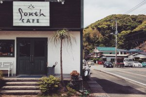The front of the cafe