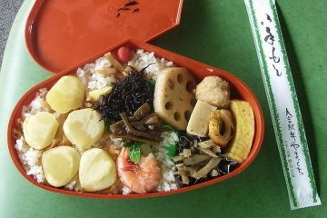 Kuri meshi or rice gives diners a sweet experience