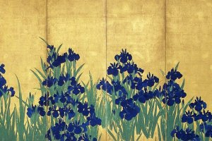 One of the artists, Ogata Korin, was famed not only for painting but for lacquerware, in particular his folding screens