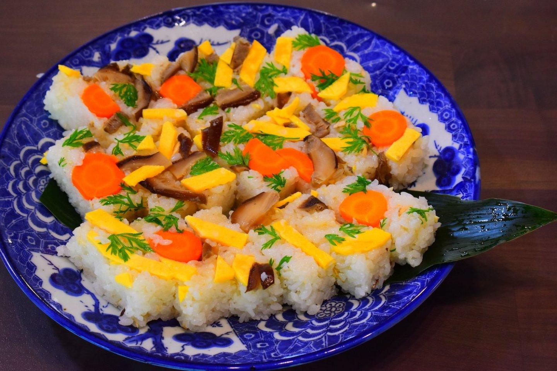 Pretty and colorful kokera sushi