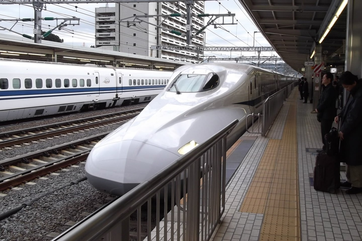 Take a bullet train like this one