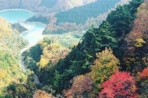 The incredible view of Lake Futai and Lake Daigenta