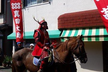 Sanada Daisuke on horseback