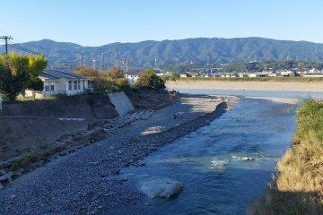 Mount Iwawaki in the distance