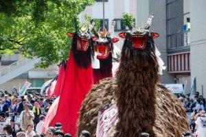 The Ushioni Festival floats