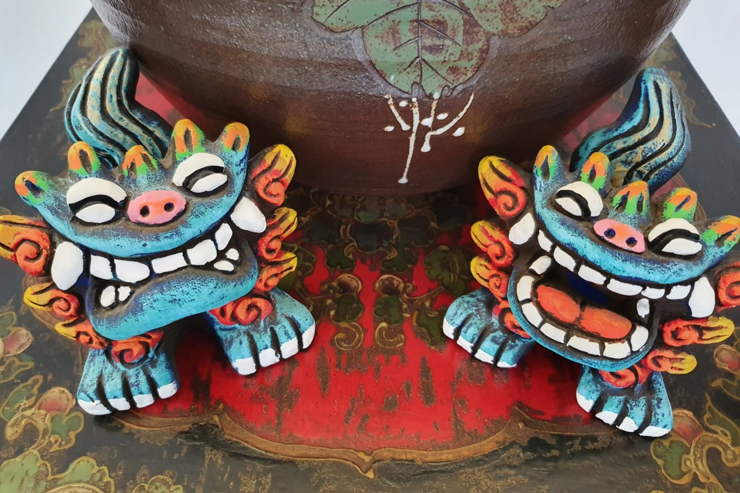 My colorful shisa pair!