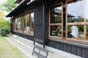 The restaurant Itaru is a renovated farm house.