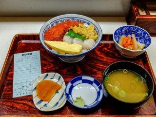 Un exemple de délicieux mets que vous pouvez trouver pour 1000 yens