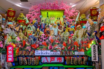 Beautiful floats located inside the adjacent You Tree shopping center