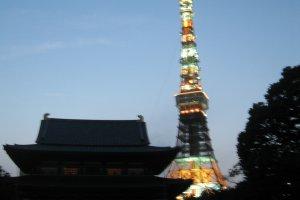 远处看到的东京塔