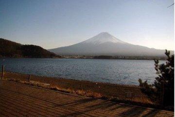 富士山的夕阳