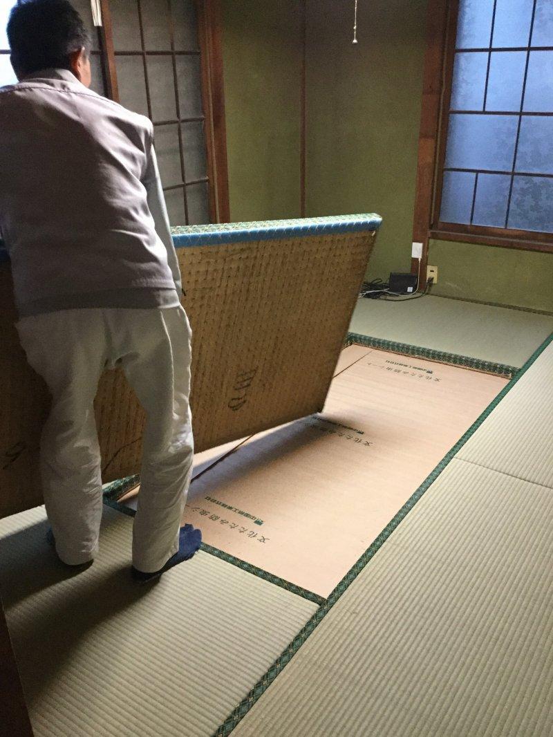 Finally, new tatami mats.