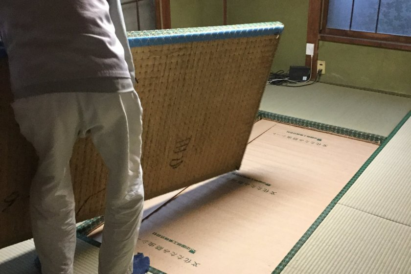 Finally, new tatami mats.