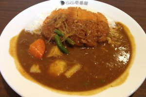 Pork cutlet - or ton katsu - curry with 200 grams of rice and spice level zero