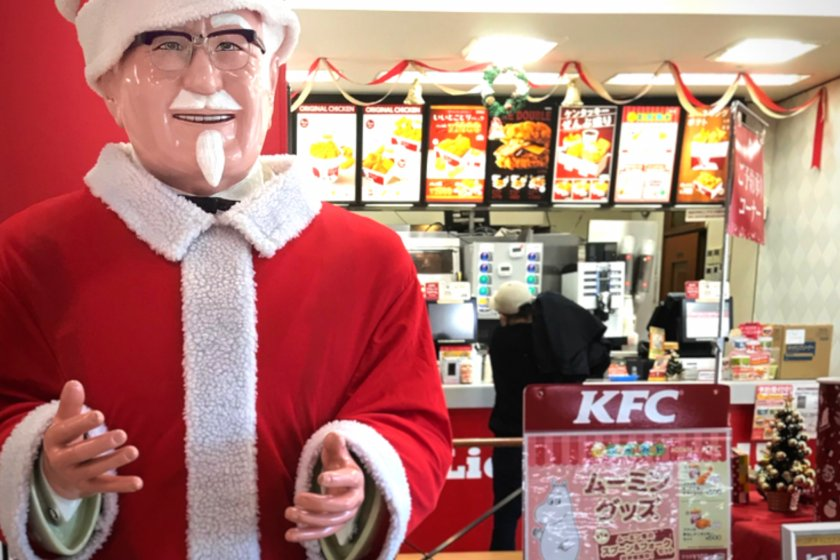 Colonel Sanders does bear a striking resemblance to Santa Claus!