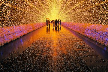 Whilst typically not Christmas themed, illumination events like the Nabana no Sato event add some light and joy to the season
