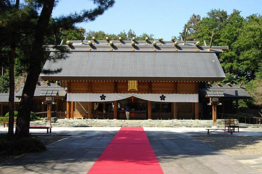 Noda City\'s stately Sakuragi Shrine