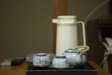 Tea is brought your room upon your arrival