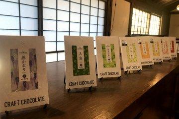 Craft chocolates fused with green tea