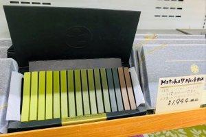 The spectrum of green tea chocolate