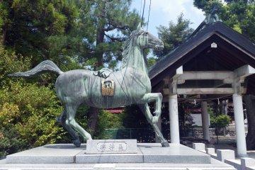 Hikage, the favourite horse of 12th century warlord Taira-no-Kiyomori