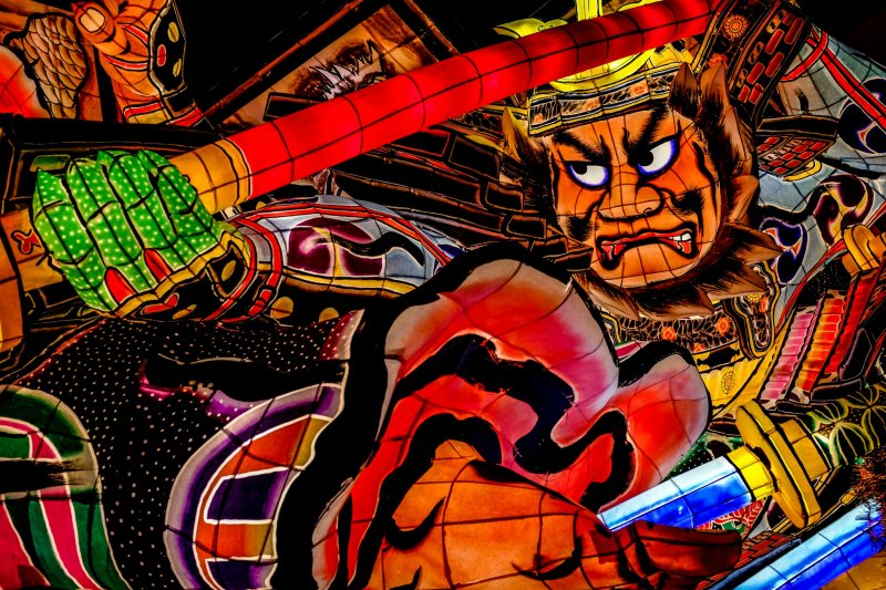 Five Nebuta Floats are exhibited in the main hall and are replaced with new ones each year