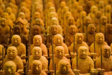 The magical thousand Buddha carvings