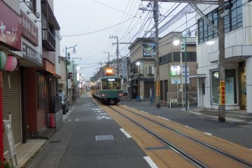 The Enoden Line as a tramway