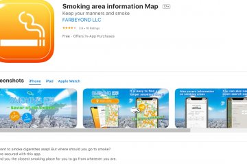 Smoking area information Map app is available only on the App Store.