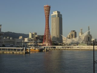 Kobe Port Tower offers incredible views during the day but watching the city at night is a whole different experience