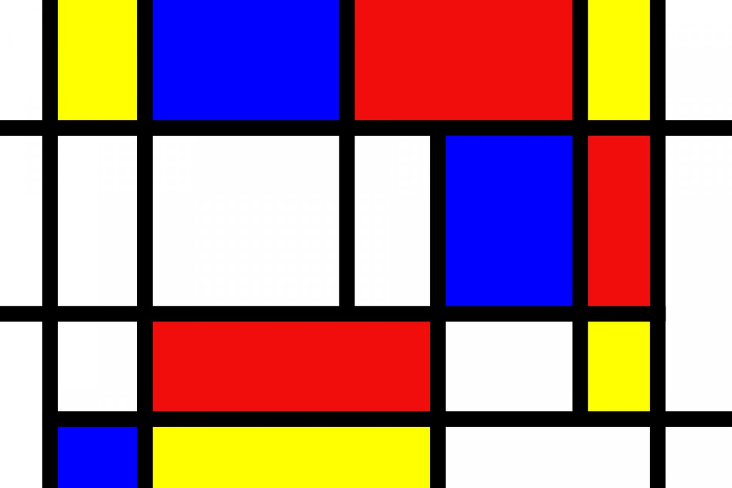 Mondrian became famous for his grid-based art, similar in style to this piece