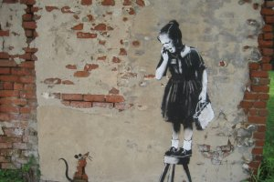 An example of Banksy's work