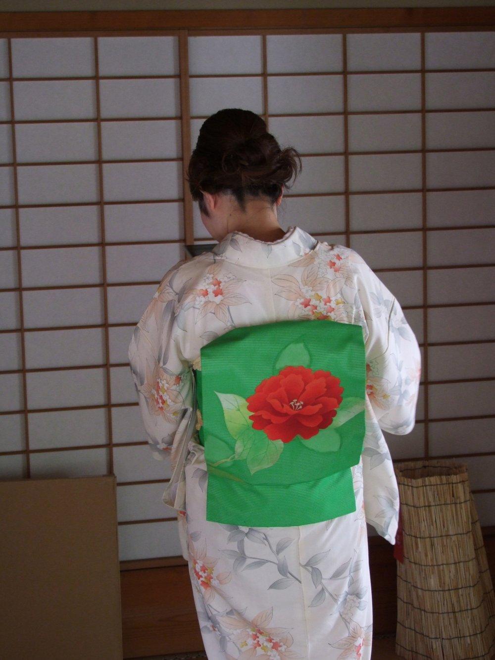No dia que visitei, um grupo de Ikebana estava já a terminar
